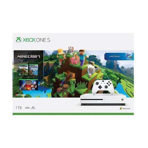 Consola Xbox One S Blanco 1tb + Paquete Minecraft Explores