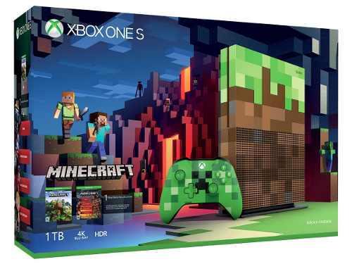 Consola Xbox One S Minecraft 1tb Edicion Limitada Sellada