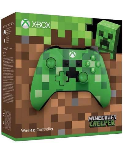Control Inalambrico Minecraft Creeper Xbox One Nuevo