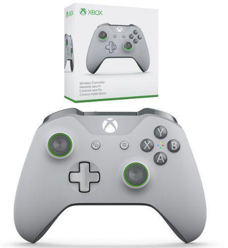 Control Xbox One Gris/ Verde Bluetooth Sellado Oferta !