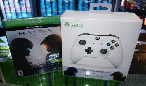 Control Xbox One + Halo 5 Gold Y Pass Nuevo (hit Games Shop)