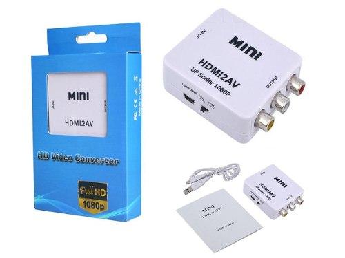 Convertidor Hdmi A Rca,audio Y Video, Adaptador Hdmi,rca.