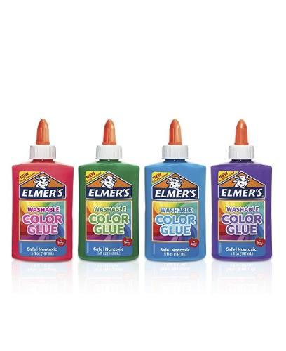 Elmers Color Glue, Para Hacer Slime. 4 Piezas. Envío Gratis