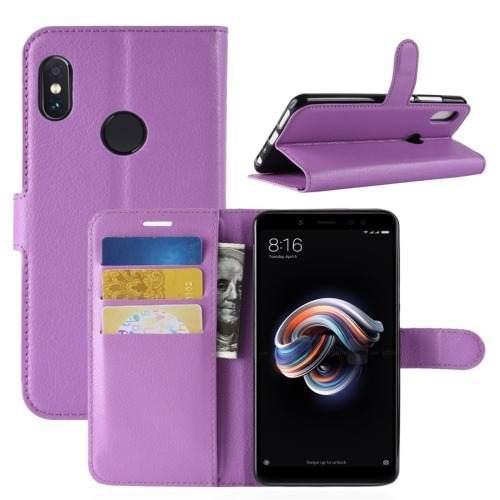 Funda De Piel Tipo Cartera Para Xiaomi Redmi Note 5