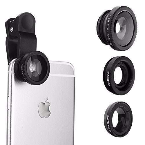 Lente 3 En 1 Fish Eye Para Iphone Galaxy Nuevos!