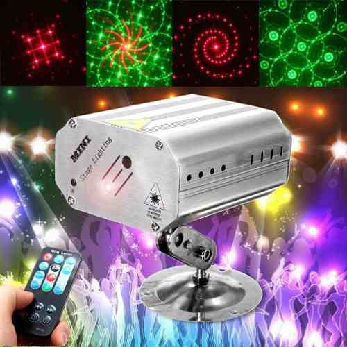 Mini Proyector Laser 12 Efectos Discoteca Dj Control Remoto