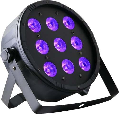 Par Led 100w Glow Led Dmx Rgb + Ultravioleta Luz Negra