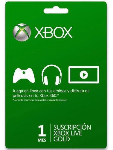 Xbox Live Gold 1 Mes Código