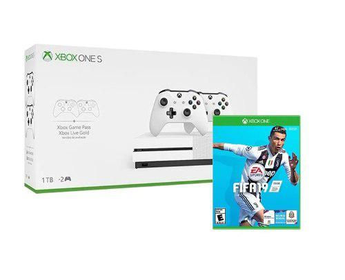Xbox One S 1 Tb Con 2 Controles + Fifa 19