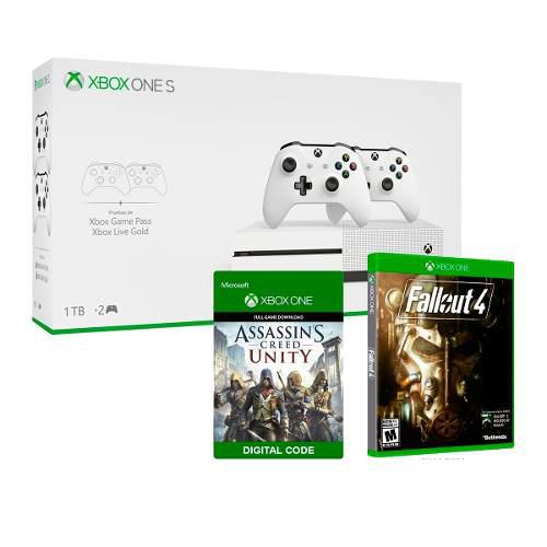Xbox One S / 1tb + 2 Controles / Fall Out 4 Assassins Creed