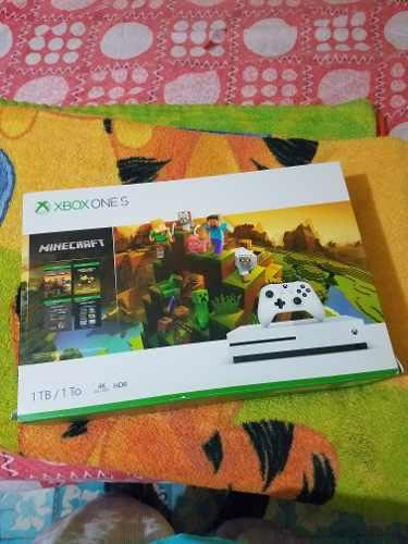 Xbox One S 1tb 4k Blue Ray Hdr Nuevo Minecraft 4 Juegos