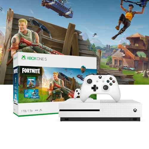 Xbox One S 1tb Fortnite+1 Control Extra+1 Mes Gold+gamepass