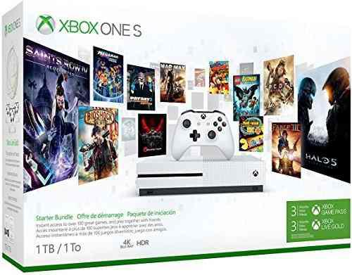 Xbox One S Console, 1tb + Game Pass 3 Meses + Live 3 Meses