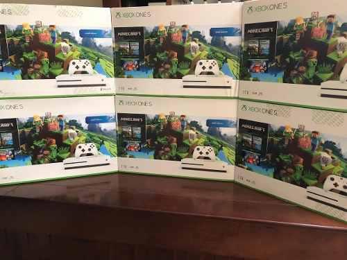 Xbox One S De 1 Tera Minecraft Original Sellado