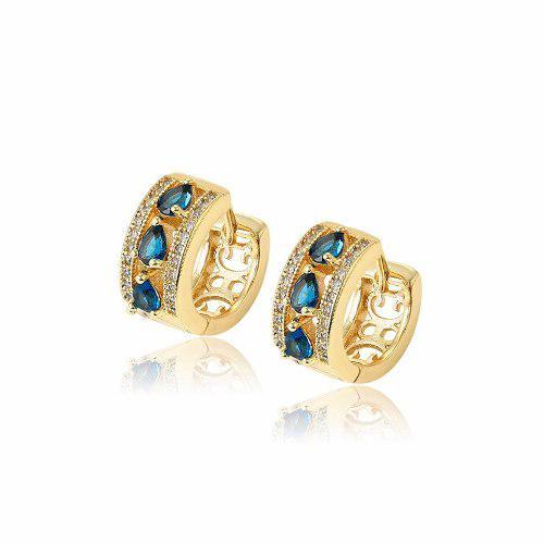 Arracadas Oro 14k Lam Zirconias Calidad Diamante