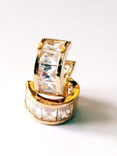 Arracadas Zirconias Calidad Diamante + Tarjeta Personalizada