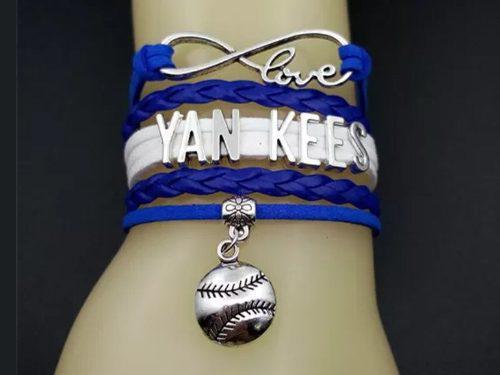 Brazalete Pulsera Beisbol Yankees New York Envío Gratis