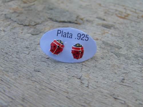 Broquel/aretes Catarina Plata925. Pequeños. 0.5cm Alto