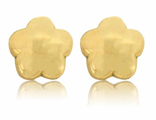 Broqueles De Flor Oro 14 K + Obsequio
