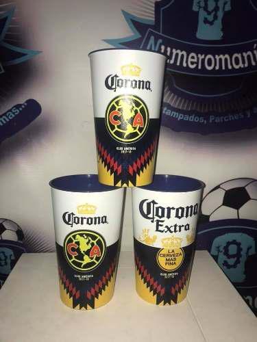 Combo 3 Vasos Cerveceros Aguilas América Estadio Azteca