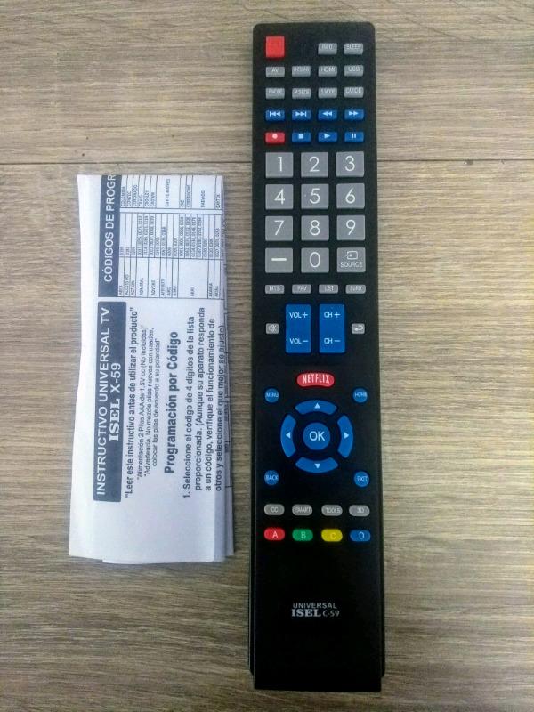 Control Universal para Pantallas LED, LCD, SMART TV,