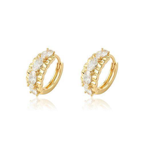 Hermosas Arracadas De Oro Con Zirconias Calidad Diamante