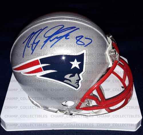 Mini Casco Autografiado Rob Gronkowski New England Patriots