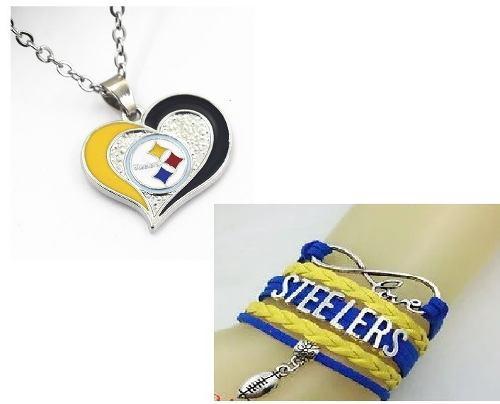 Steleers Pittsburgh Conjunto Collar Y Pulsera Nfl Aceleros