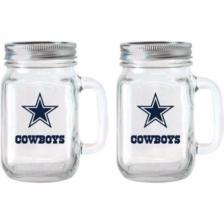 Tarro De Cristal Con Tapa Y Manija. Nfl Dallas Cowboys