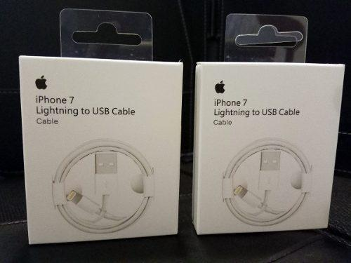 2 Cables Iphone Lightning 100% Original 5 6 7 8 X Ipad Ipod