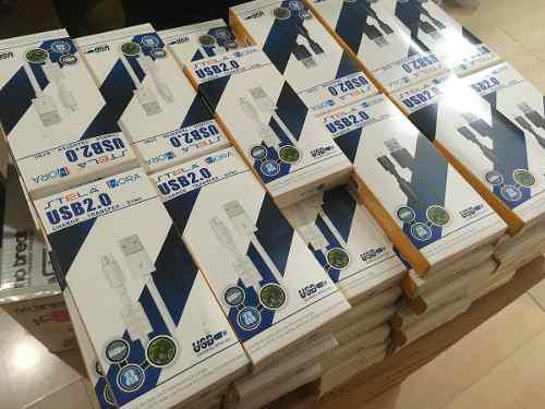 50 Cables Micro Usb V8 Android Uso Rudo Carga Rapida Stela