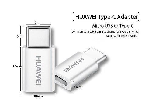 Adaptador Micro Usb A Tipo C 100% Original Huawei