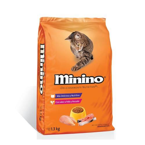 Alimento Para Gato Minino Sabor Pollo Y Pescado 1.3 Kg