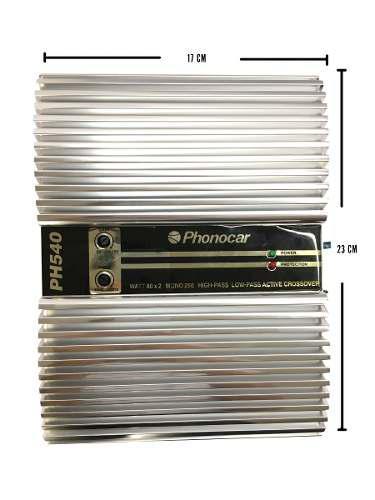Amplificador Phonocar Ph540 / 2000 Watts 2 Canales