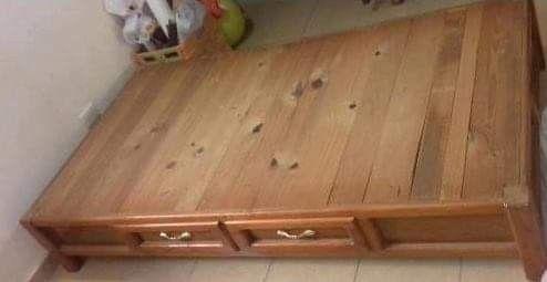 Base de cama individual con 4 cajones