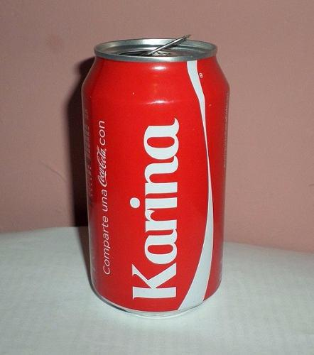 Bote Vacio De Coca Cola Leyenda Karina Coleccionistas