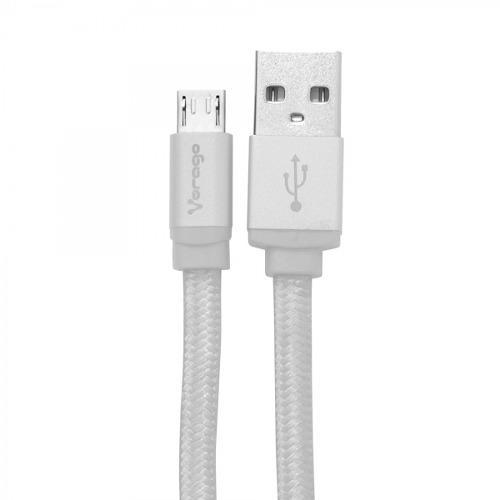 Cable Usb A Micro Usb V8 Tejido Vorago 1 Metro Carga Y Datos