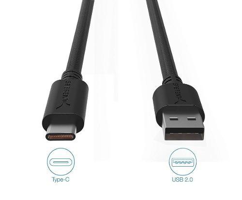 Cable Usb C Nylon Sabrent Carga Rápida 1.8m Samsung S8 S9