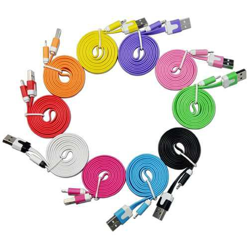 Cable Usb Lightning Colores Iphone Ipod Ipad 1mt