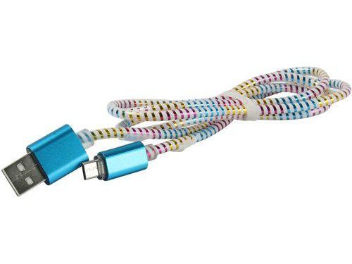 Cable Usb V8 Micro Usb Reforzado Multicolor Puntas