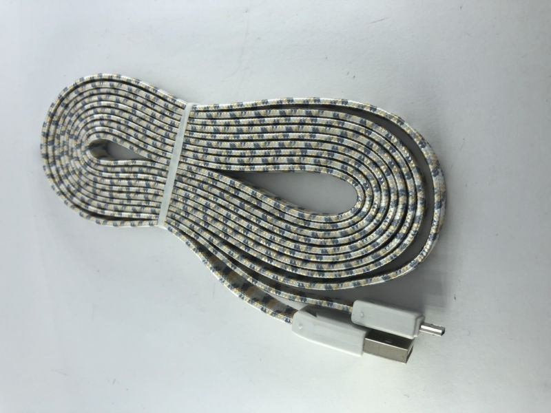 Cable micro usb de 3 metros de largo de uso rudo