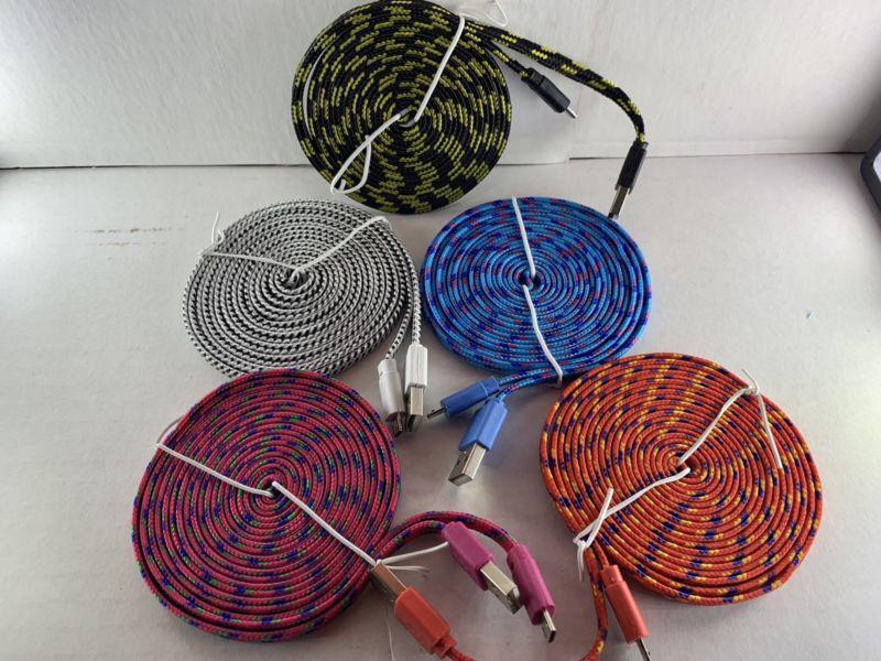 Cable micro usb de 3 metros de largo uso rudo tejido