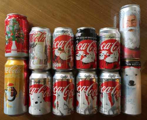 Coca Cola Colección 12 Latas Navidad Ltd Edition Varios