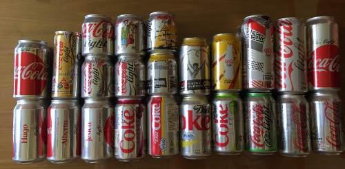 Coleccion 23 Latas Coca Cola Light Ltd Edition Mexico Y Usa