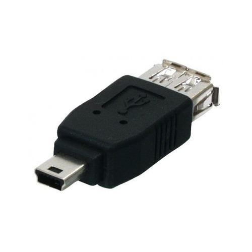 Conector Adaptador Extension Mini Usb Macho A Usb Hembra