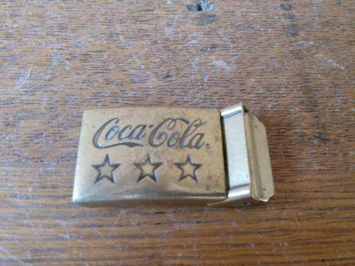 Hebilla De Bronce Laton Coca Cola De Coleccion