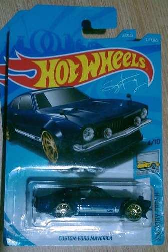 Hot Wheels Custom Ford Maverick Azul Marino  Nuevo