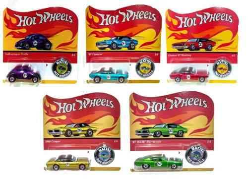 Hot Wheels Serie De 5 Carritos 50 Aniversario Ftx83
