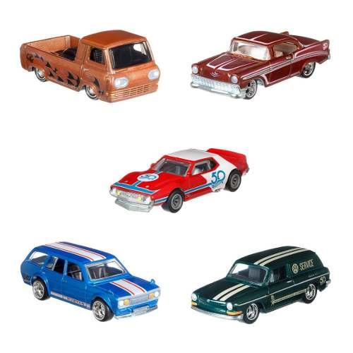 Hot Wheels Serie De 5 Vehiculos 50 Aniversario Flf35