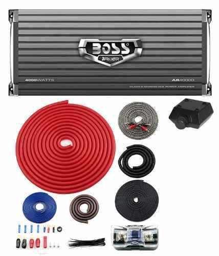 Kit De Amplificador De Audio 4000 W + Kit Cableado Número 4